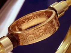 Vintage Canadian Large Penny - Coin Ring   By: The Coin Smith