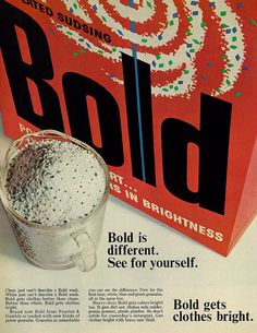 1966. Bold detergent with power granules.