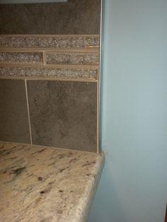chrome schluter edge to finish tile instead of bullnose bathroom ideas pinterest copper. Black Bedroom Furniture Sets. Home Design Ideas