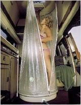 Handy shower for campervan