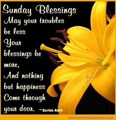 Sunday Blessings days of the week sunday blessings sunday quotes happy sunday…