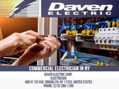 Daven Electric offers Commercial Electric Installation services that provide clients with the highest level of service and quality as we have the technical prowess and company reputation to provide and install both Industrial and Commercial Electrical wiring systems for their electrical, telecom, and data network projects. Daven Electric Corp. Electrician 4601c 1st Ave, Brooklyn, NY 11232, United States Phone: 212-390-1106 Commercial Electrician, Professional Electrician, Electrical Wiring, Business Names, Brooklyn, Knowledge, Industrial, United States, Phone