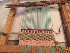 Aula de mini tapeçaria junho 2015.