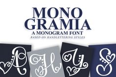 Monogramia by Font Bundles Store available for $10.00 at FontBundles.net