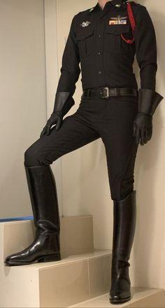 High Boots, Black Boots, Mens Leather Pants, Rubber Gloves, Men In Uniform, Elegant Outfit, Asian Men, Sexy Men, Man Boots