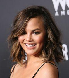 The Best Beach Wave Inspiration For Every Hair Length - Chrissy Teigen's wavy bob