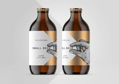 The Original Small Beer / World Brand & Packaging Design Society Beer Label Design, Wine Bottle Design, Bottle Packaging, Brand Packaging, Food Packaging, Cheese Packaging, Design Packaging, Coffee Packaging, Drink Labels