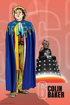 Doctor Who - Colin Baker and Davros - 17 x Digital Print Doctor Who Funny, Doctor Who Fan Art, Good Doctor, Geronimo, Colin Baker, Demolition Man, Doctor Who Companions, Classic Doctor Who, Classic Series