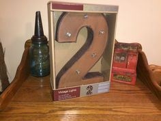 NIB Vintage Lights Battery Operated Sign with LED Bulbs Wall Decor | eBay