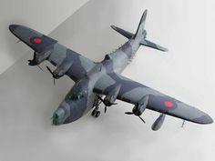 027 130cm Short Sunderland MKII flying boat patrol bomber paper model pdf file