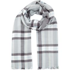 Accessorize Check Blanket Scarf ($26) ❤ liked on Polyvore featuring accessories, scarves, wrap shawl and blanket scarf
