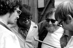 Pete Welding interviews Al Kooper, Buddy Miles and Harvey Brooks for 20/20 at the Monterey Pop Festival in June 1967.