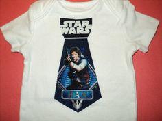 STAR WARS BABY Bodysuit With Han Solo, Size Newborn to 24Mo. Star Wars Infant Tie Bodysuit. Toddler Bodysuit on Etsy, $12.96