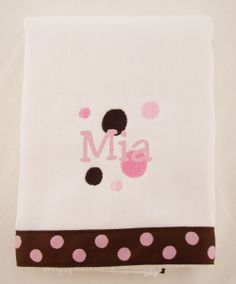 Designed with fabulous color combinations and funky prints, making a fashion statement while handling any mess baby throws your way. These are the softest, most absorbent burpies available to protect baby's delicate skin. A Little Bit Of This Lots of Dots Pink and Chocolate Burp Cloth. Click the image to get more information about the product, including personalization options, at our online store!