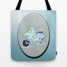 Retro scooter Tote Bag by LoRo  Art & Pictures - $22.00