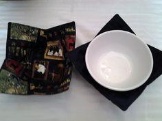Microwave Bowl Cozy Nature Black Multi Masculine Hunting Pot Holder Hot Pad…