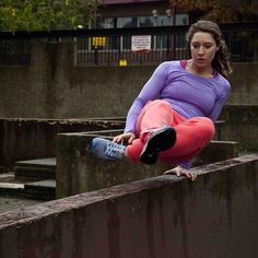 On any day she can vault a wall, run up a wall, jump off a wall. She likes walls. Yoga parkour girl (@yogaparkourgirl) in London. #SeeAndDo #WomenMove #seeandmove