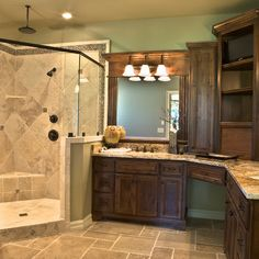 Knotty Alder Cabinets Bathroom Design Ideas, Pictures, Remodel and Decor