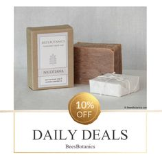 Today Only! 10% OFF this item.  Follow us on Pinterest to be the first to see our exciting Daily Deals. Today's Product: NICOTIANA - Bee's Botanics Handmade Soap - 100% Natural & Vegan - Hot Process - 4 ounce bar Buy now: https://www.etsy.com/listing/259415935?utm_source=Pinterest&utm_medium=Orangetwig_Marketing&utm_campaign=Daily%20Deal   #etsysale #etsy #etsyseller #etsyshop #etsyfinds #etsygifts #handmade #instashop #instacool #shop #shopping #onlineshopping #musthave #instagood…