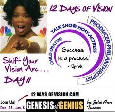 DAY 11 - Shift Your Vision Arc http://12daysofvision.com  #genesisofgenius #12DaysofVision