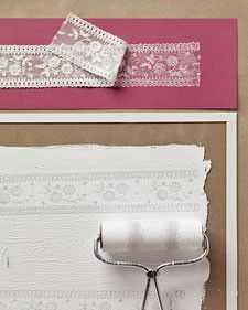 Sweetly Scrapped: Brayer paint over lace for a cool effect