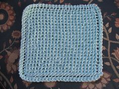 Dishcloth like grandmother's favourite, but with a more waffle look