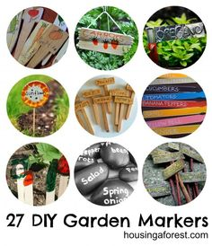 27 DIY Garden Markers ~ Plant Stakes perfect for your kids to make.