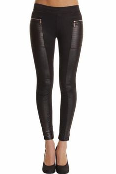 Cisco Leatherette Leggings #black #leather #leatherette #vegan #legging #leggings #chic #streetstyle #ootd #musthave #winter #clubbing #party #date