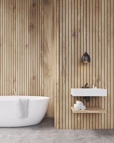 ♡ Pinterest // @annnna123 #bathroom #wood #wall #concrete #nordic #rustic #sauna #noors