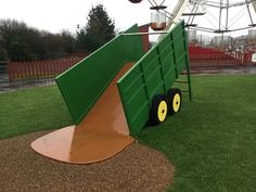 We love to make unique pieces of play apparatus and these are no exception. Take a look at the replica play farm machinery we made for Folly Farm - a teleporter, a tractor, and a tipping trailer. What would you little adventurers think of these? Kids Backyard Playground, Preschool Playground, Backyard For Kids, Playground Ideas, Outdoor Fun For Kids, Outdoor Baby, Folly Farm, Farm Fun, Farm Store