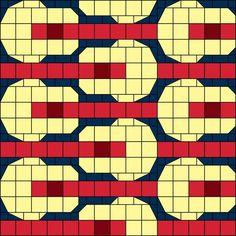 Soft Guitars Patchwork Quilt Block Pattern. $5.00, via Etsy.