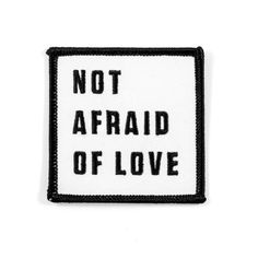 """Afraid of a lot of other things though - Embroidered patch - Iron-on adhesive backing - Measures 2.5"""" tall x 2.5"""" wide"""