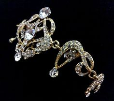 $69 Gold Bridal Bracelet, Art Deco Victorian Swarovski Wedding Jewelry, CARMEN GOLD