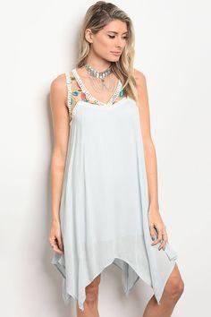 Zolabug.com has it all!!! Sleeveless Skater Dress ~ Light Blue ~ (True Curves)