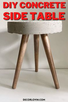 Diy Furniture Table, Concrete Furniture, Diy Concrete, Diy Furniture Projects, Diy Table, Diy Wood Projects, Cement, Bedroom Decor For Women, Diy Room Decor
