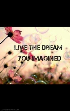 Live the dream you imagined life quotes quotes quote life dream imagine