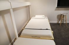"""Need a bed (or two) but don't have space for another permanent """"bedroom?"""" Is your old college futon/hand-me-down guest bed/blow-up mattress no longer cutting it? We have a solution -- DIY your own Murphy bed! Check out our project and get inspired! Murphy Bed Kits, Murphy Bed Plans, Murphy Beds, She Shed Interior Ideas, Diy Interior, Interior Design, Timber Frame Cabin, Fold Up Beds, Horizontal Murphy Bed"""