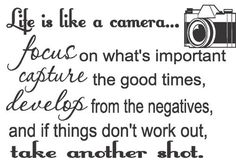 life is like a camera - Google Search