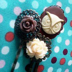 Super cute owl bobby pins!