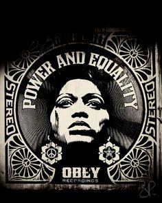 Street art ~ obey,  chicago