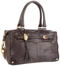 Rebecca Minkoff Mab Buckled Shoulder Bag,Charcoal,One Size $360.01