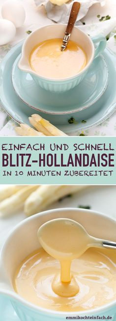 Blitz-Hollandaise & www.emmikochteinf& Supply via FrancescaLarozzi/ The post Blitz Hollandaise & Der Sossen-Klassiker schnell und einfach appeared first on Francesca Larozzi. Fast Dessert Recipes, Fast Dinner Recipes, Easy Salad Recipes, Paleo Dessert, Steak Recipes, Sauce Recipes, Fish Recipes, Verrines Vegan, Ketogenic Recipes