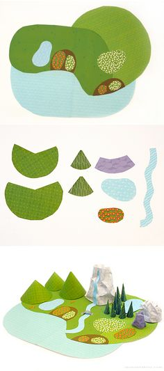 My Paper World | free printable papers to cut and make play landscape | By mrprintables.com