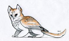 """Owl Griffin Color Design"" by ~RobtheDoodler"