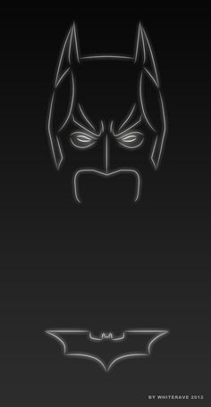 Batman - Illustrator Creates 'Neon Light' Superheroes - DesignTAXI