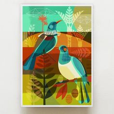 Ellen Giggenbach is a freelance designer, her mid century inspired designs appears on paper crafts, textiles, homewares, stationery products and books Create Image, Mural Art, Graphic Patterns, Illustrations, Bird Art, Art Techniques, My Images, Art Lessons, Color Splash
