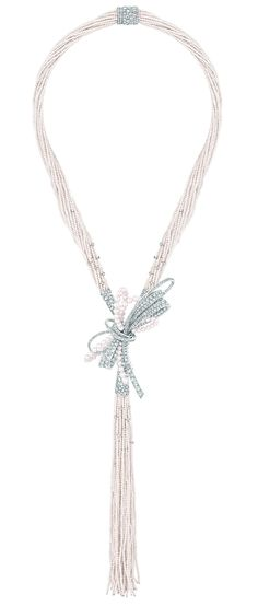 Diamond, South Sea cultured pearl, and Japanese cultured pearl 'Perles de Couture' necklace.