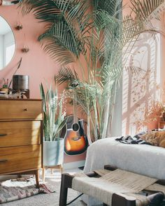 The next home decor ideas will be going to be the ones you'll be wanting and needing this Summer home decor trends! Source by bedroomideasb Decor contemporary Pink Bedroom Walls, Peach Bedroom, Bedroom Plants, Bedroom Green, Pink Bedrooms, Pretty Bedroom, Small Bedrooms, Pink Walls, Guest Bedrooms