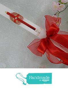 Taufkerze Kommunionkerze Lambada Lambatha Kerze Junge Mädchen rot gold weiss 400/40 mm inkl. Beschriftung from Lenz Kerzen https://www.amazon.de/dp/B01MSASRU9/ref=hnd_sw_r_pi_dp_3u7HybZMM4MG5 #handmadeatamazon