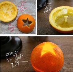 Awesome way to reuse orange peels and look super Martha Stewart-ey